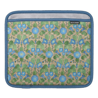 Nostalgic Blue Morning Glory Rickshaw iPad Sleeve