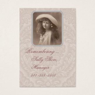 Nostalgic business card Remembering Victorian Girl