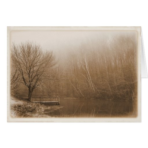 Nostalgic by the Pond - Blank Greeting Card