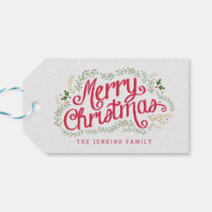 Christmas Gift Tags & Gift Enclosures | Zazzle