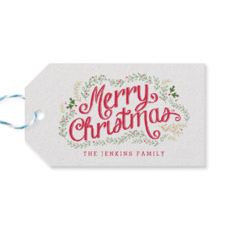 Nostalgic Christmas Holiday Gift Tags
