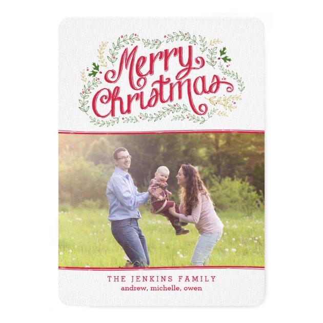 Nostalgic Christmas Holiday Photo Cards