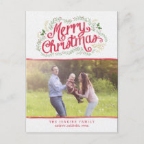 Nostalgic Christmas Photo Card Postcard
