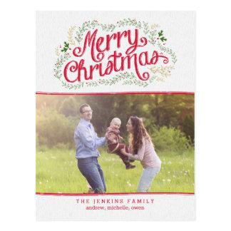Nostalgic Christmas Photo Card Postcard