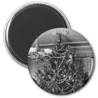 Nostalgic Christmas Tree 2 Inch Round Magnet