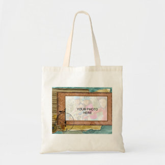 Nostalgic Cycling Themed Photo Tote Bag
