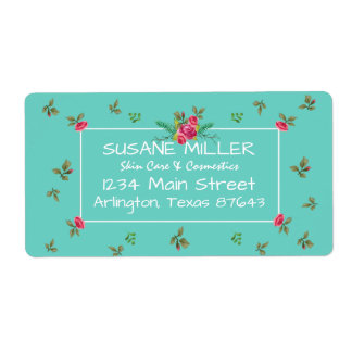 Nostalgic English ROSES Watercolor Pattern Busines Label