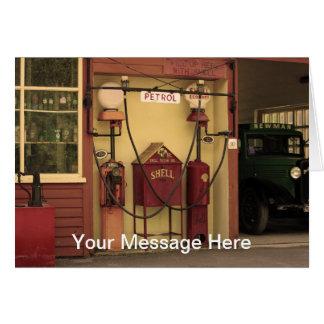 Nostalgic Gas Station Card