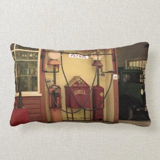 Nostalgic Gas Station Lumbar Pillow