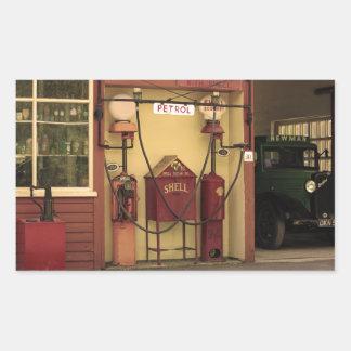Nostalgic Gas Station Rectangular Sticker