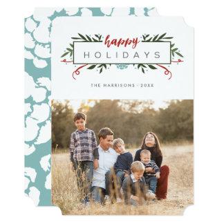 Nostalgic Holiday Photo Christmas Card