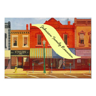 Nostalgic Hometown City Street Reunion Invitations