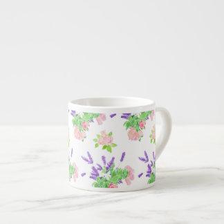 Nostalgic Lavender, Pink Roses, Mock Orange Espresso Cup