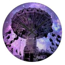 Nostalgic Lights Large Clock