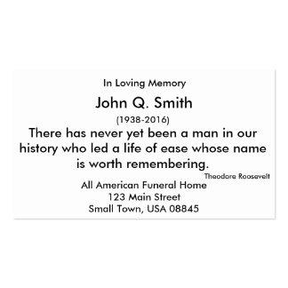 Nostalgic Mountains Funeral and Memorial Card Hz