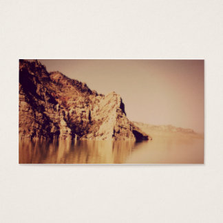 Nostalgic Mountains Water Funeral Memorial Card