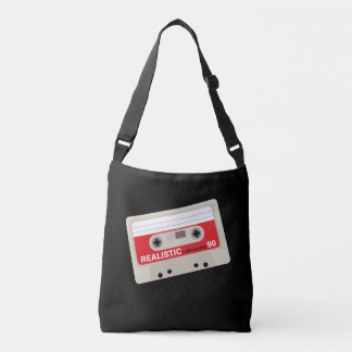 Nostalgic music lover bold cassette graphic crossbody bag