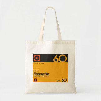 Nostalgic music lover cassette graphic tote bag