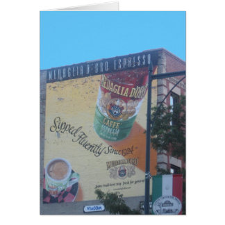 "Nostalgic Neighborhood Scene in ""Little Italy"" Greeting Card"