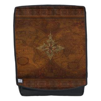 Nostalgic Old Compass Rose Design Backpack