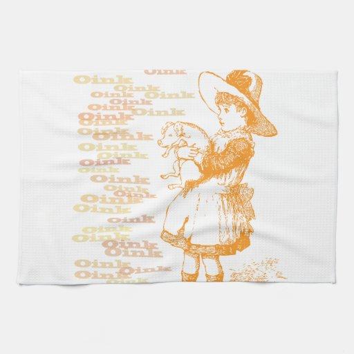 Nostalgic Piglet Kitchen Towel
