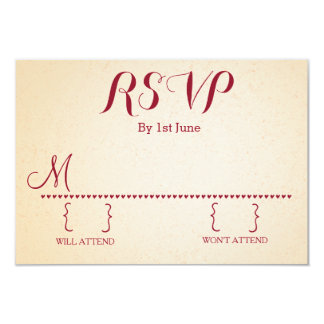 Nostalgic Romance Custom RSVP Custom Invites