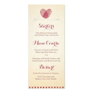 Nostalgic Romance - Custom Wedding Menu Invites
