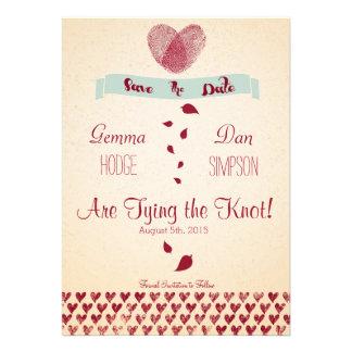 Nostalgic Romance - Save the Date Invitation