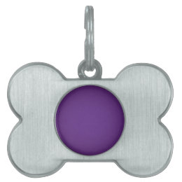Nostalgic Royal Purple Pet ID Tag