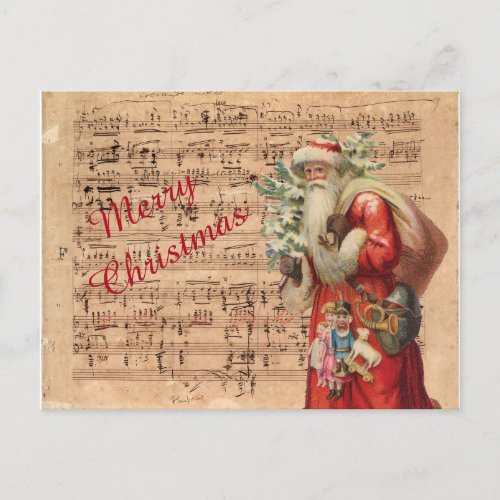 Nostalgic Santa Toys and tree With Sheet Music