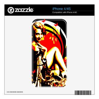 Nostalgic Seduction - Crimson Moon Decals For The iPhone 4S