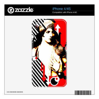 Nostalgic Seduction - Madam Stripe Skins For iPhone 4