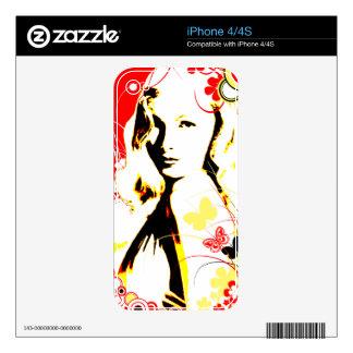 Nostalgic Seduction - Wistful Flutter iPhone 4S Skin