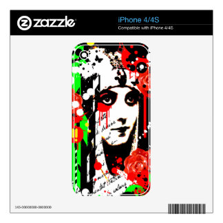 Nostalgic Seduction - Zombie Queen Roses Decals For The iPhone 4S