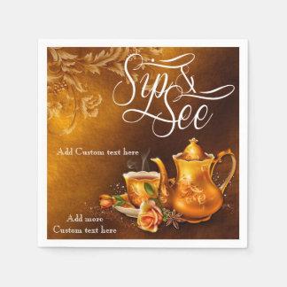 Nostalgic Tea Time Sip & See Baby Party Napkin Disposable Napkin