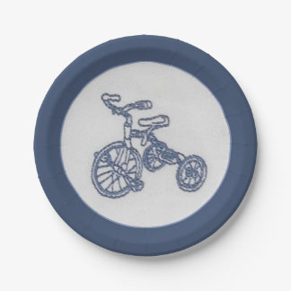 Nostalgic tricycle paper plate