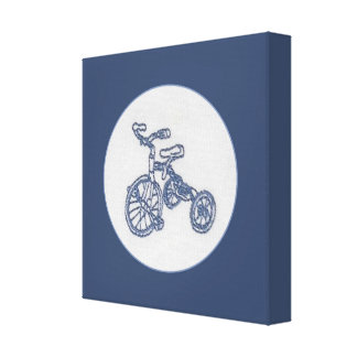 nostalgic tricycle wrapped canvas