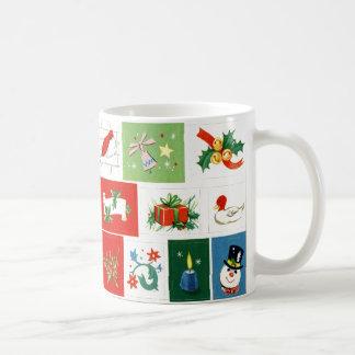 Nostalgic vintage Christmas Icons Mug