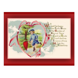 Nostalgic Vintage Valentine Cards Post Card