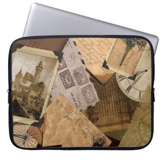 Nostalic Travels Sepia Laptop Sleeve