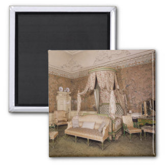 Nostell Priory, the state bedroom, 1771 2 Inch Square Magnet