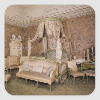 Nostell Priory, the state bedroom, 1771 Square Sticker