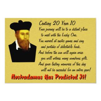 Nostradamus B-day Invite