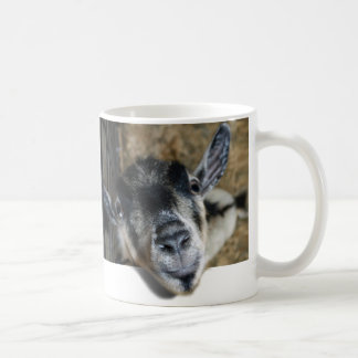 Nosy Goat Looking Out Classic White Coffee Mug