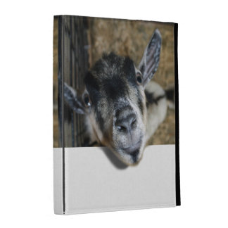 Nosy Goat Looking Up iPad Folio Cover