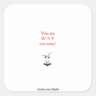 Nosy Square Sticker