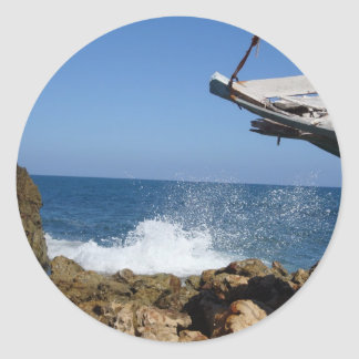 Not A Bad Place To Be Shipwrecked Classic Round Sticker
