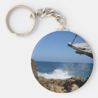 Not A Bad Place To Be Shipwrecked Keychain
