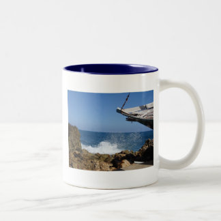 Not A Bad Place To Be Shipwrecked Two-Tone Coffee Mug
