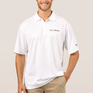 Not A Blonde Polo Shirt